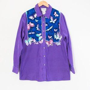 The Quacker Factory | Vintage Butterfly Blouse